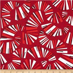 Jazz Jam Keyboard Red Fabric