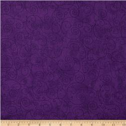 "110"" Wide Flannel Quilt Backing Willow Dark Purple"