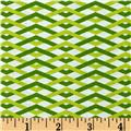 Michael Miller Technicolor Braid Leaf Green