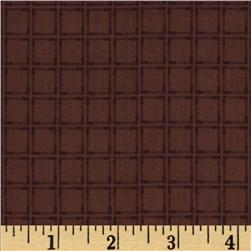 Americana Collection Window Pane BurgundyRust