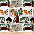 Disney Flannel Jungle Book Block White