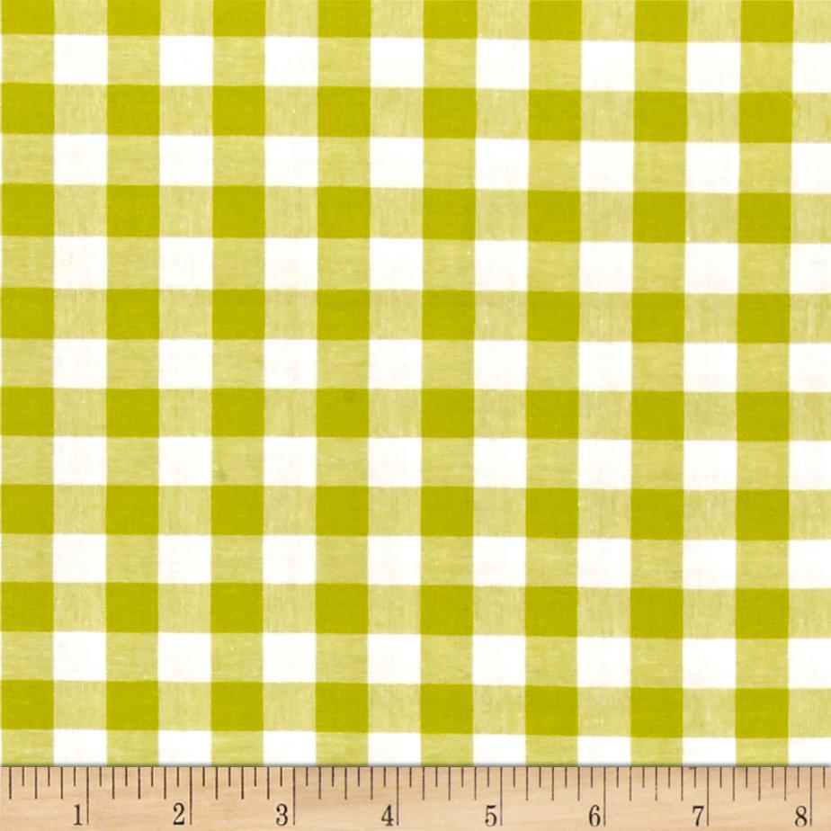 Cotton + Steel Checkers Yarn Dyed Woven 1/2'' Citron Fabric