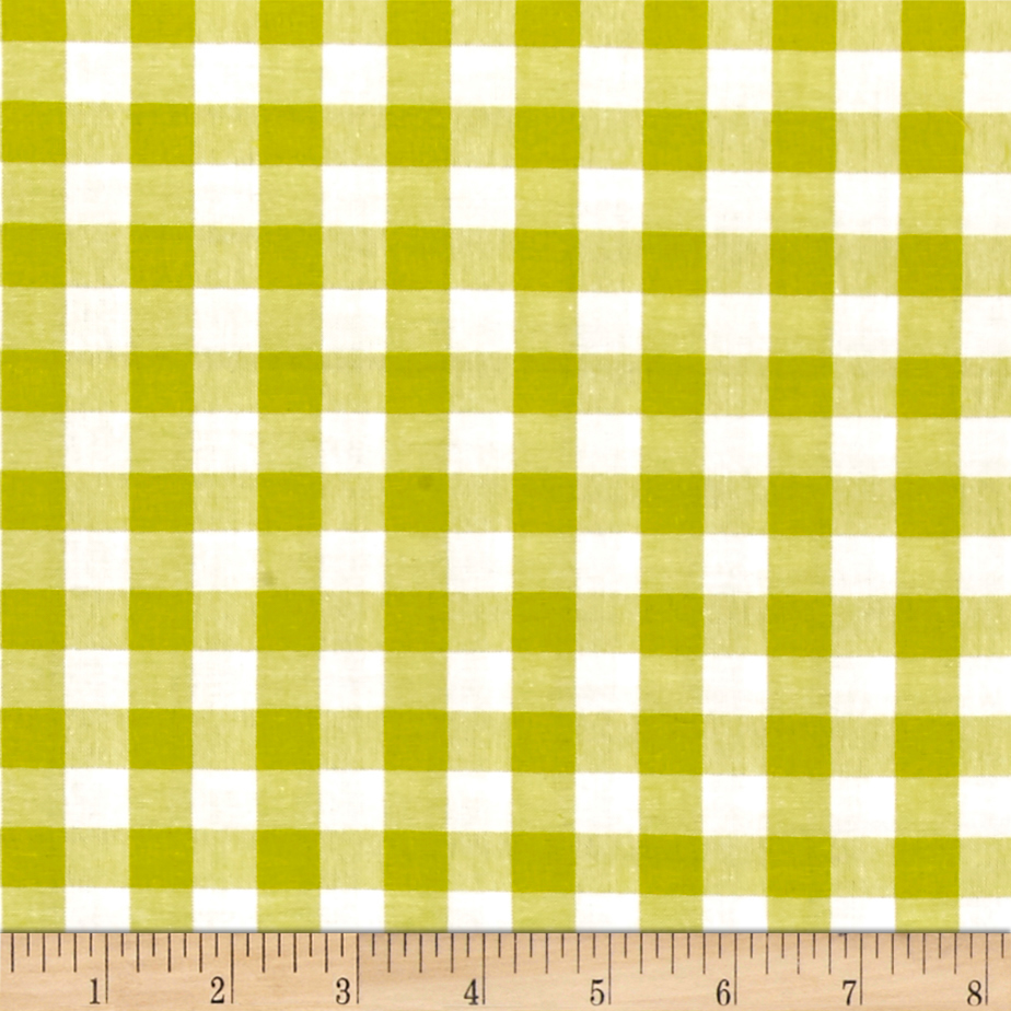 Image of Cotton + Steel Checkers Yarn Dyed Woven 1/2'' Citron Fabric
