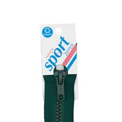 "Coats & Clark Sport Separating Zipper 22"" Forest Green"