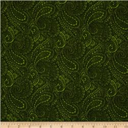 108'' Complementary Quilt Backing Paisley Light Green