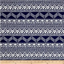 Peachskin Aztec Navy/White
