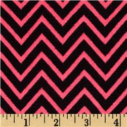 Hatchi Sweater Knit Chevron Black/Neon Pink