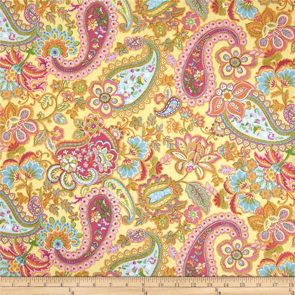 Timeless Treasures Soleil Paisley Yellow