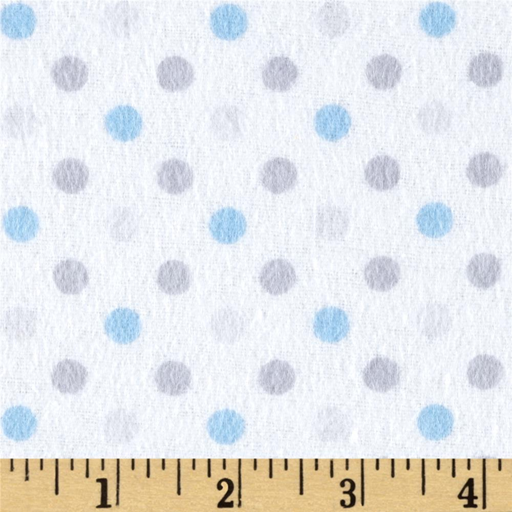 Flannel Dot Party Blue/Grey