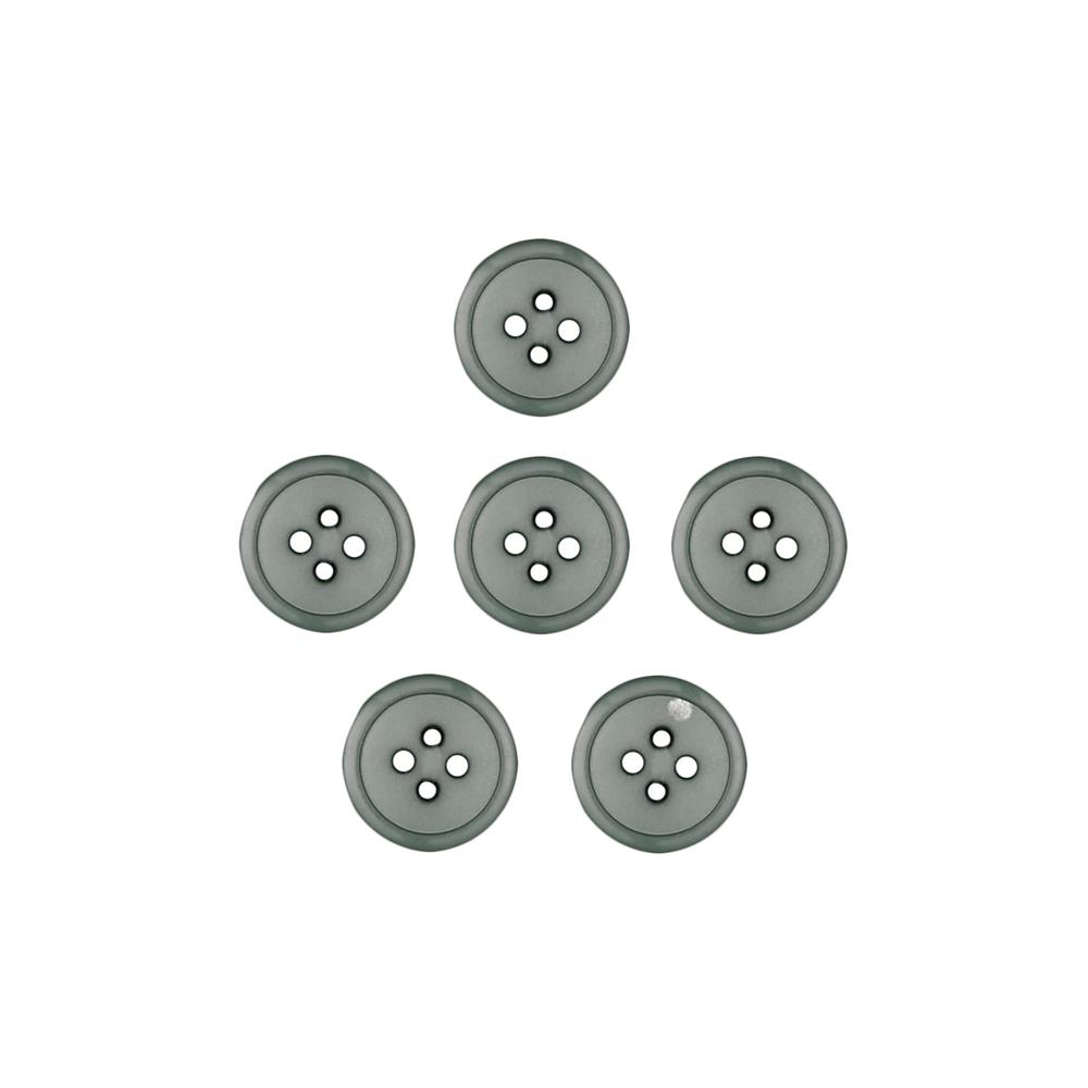 Dill Buttons 7/16'' Polyamid Button Grey