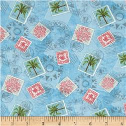 Neptune's Garden Travel Toile Blue