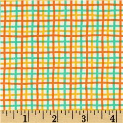 Moda Block Party Plaid Orange