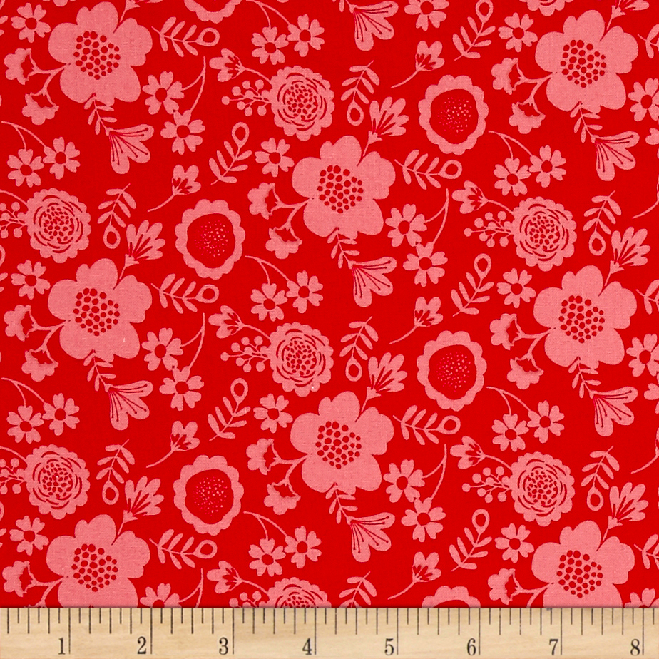 Riley Blake Wistful Winds Petal Red Fabric by Christensen in USA