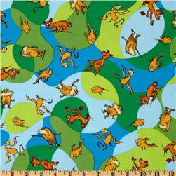 The Lorax Organic Truffala Forest Creatures Bright Fabric