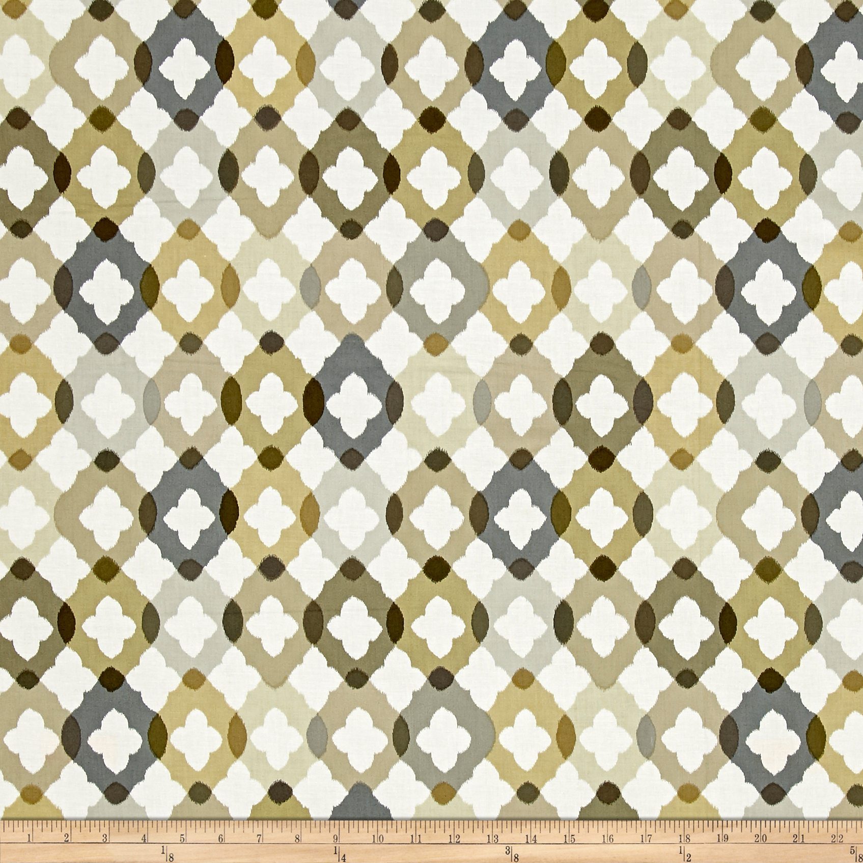 Shadows Paintbox Mini Ogee Taupe Fabric by Benartex in USA