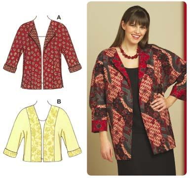 Kwik Sew Jackets with Dolman Sleeves Plus Size Pattern