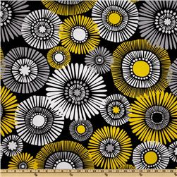 Michael Miller Citron Gray Straw Daisy Citron