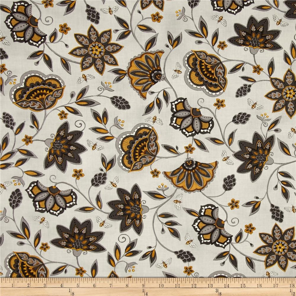 Moda Bee Creative Flowers & Bees Dove Grey