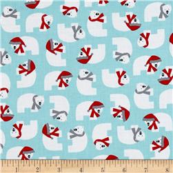 Kaufman Jingle 4 Polar Bears Aqua