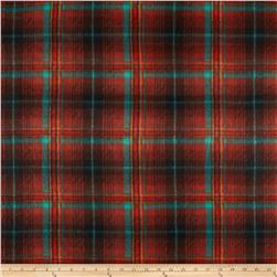 Fleece Print Bright Plaid Spice