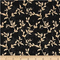 Poppy Celebration Leaves All Over Cream/Black