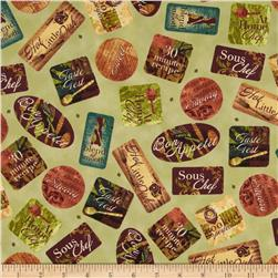Hot Little Dish Labels Green
