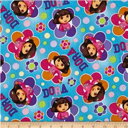 Nickelodeon Dora the Explorer Totally Dora Floral Badges Blue