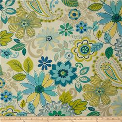 Swavelle/Mill Creek Indoor/Outdoor Gaya Floral Blue Lagoon Fabric