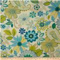 Swavelle/Mill Creek Indoor/Outdoor Gaya Floral Blue Lagoon