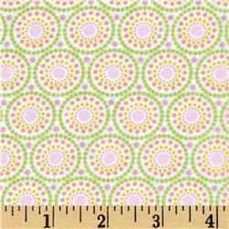 Alpine Flannel Ring Toss Pink Fabric