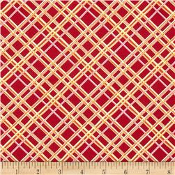 Gramercy Hudson Plaid Dark Pink Fabric