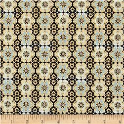 Imperial Gardens Medallion Light Blue
