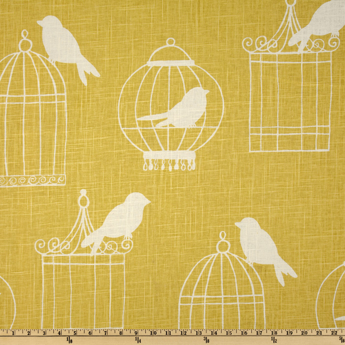 Duralee Home Birdcage Canary Fabric