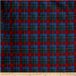 Printed Fleece Plaid Red/Blue