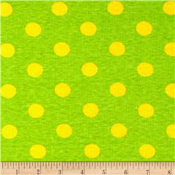 Rib Knit Dots Lime/Gold
