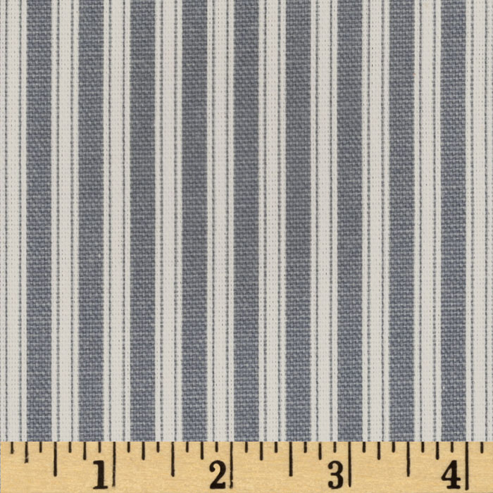 Magnolia Home Fashions Polo Stripe Sail Blue Fabric