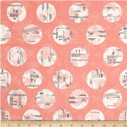 Riley Blake Sew Charming Circles Coral Fabric