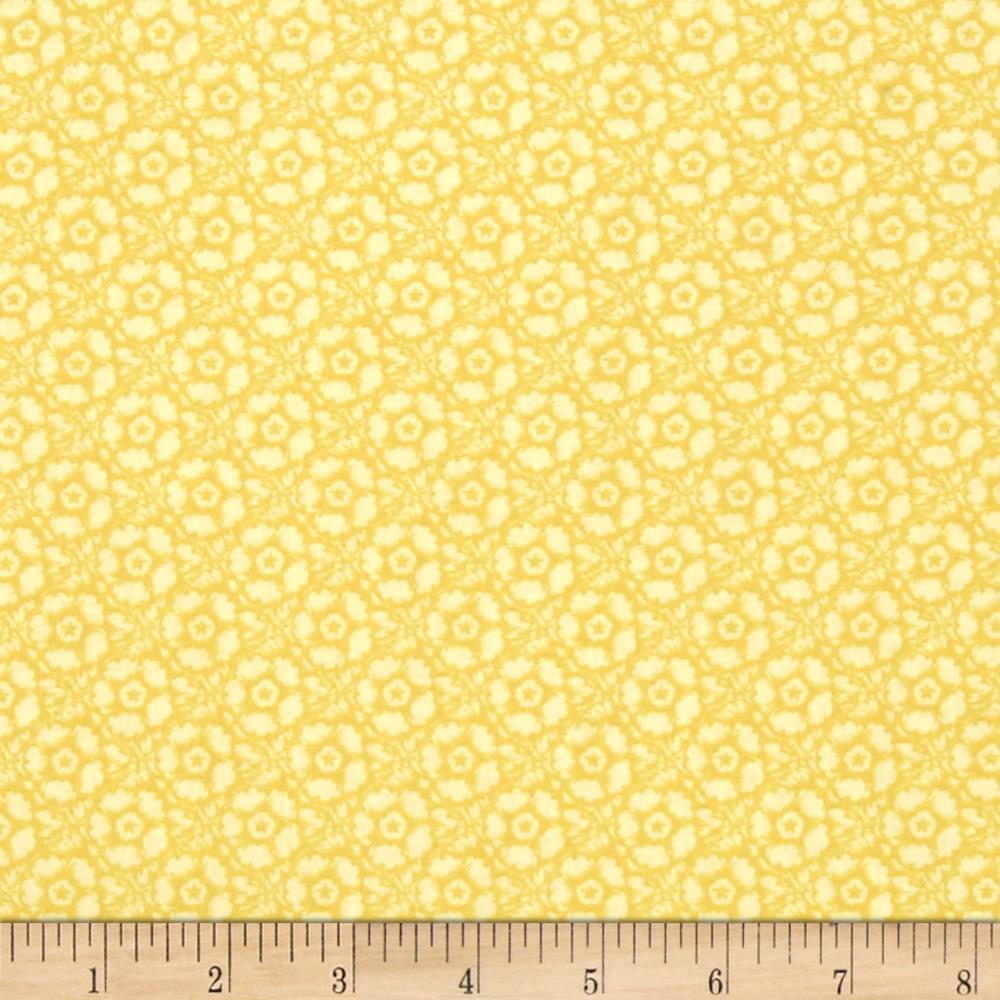 Butterfly Botanical Tonal Floral Yellow