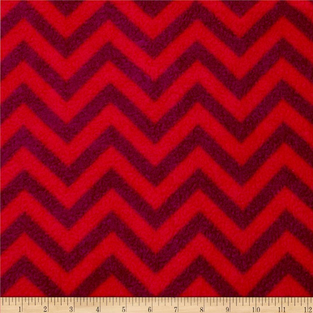 Fleece Chevron Red/Wine