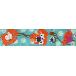 "1 1/2"" Anna Maria Horner Raindrops on Poppies Orange/Turquoise"