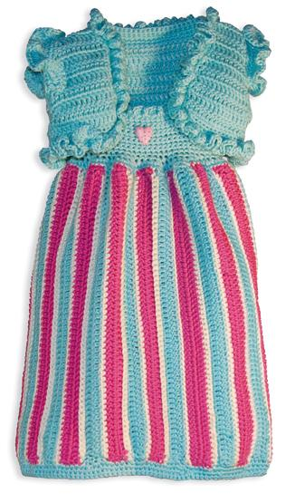 Brite Babies Summer Stripes Sundress & Shrug Crochet Pattern