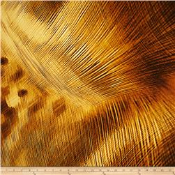 Electric Feather Gold Fabric