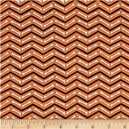 Moda Moonlight Manor Skeleton Chevron Pumpkin Orange