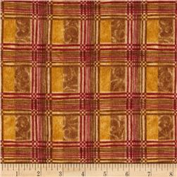 Halvorsen Holiday Flannel Brocade Plaid Amber