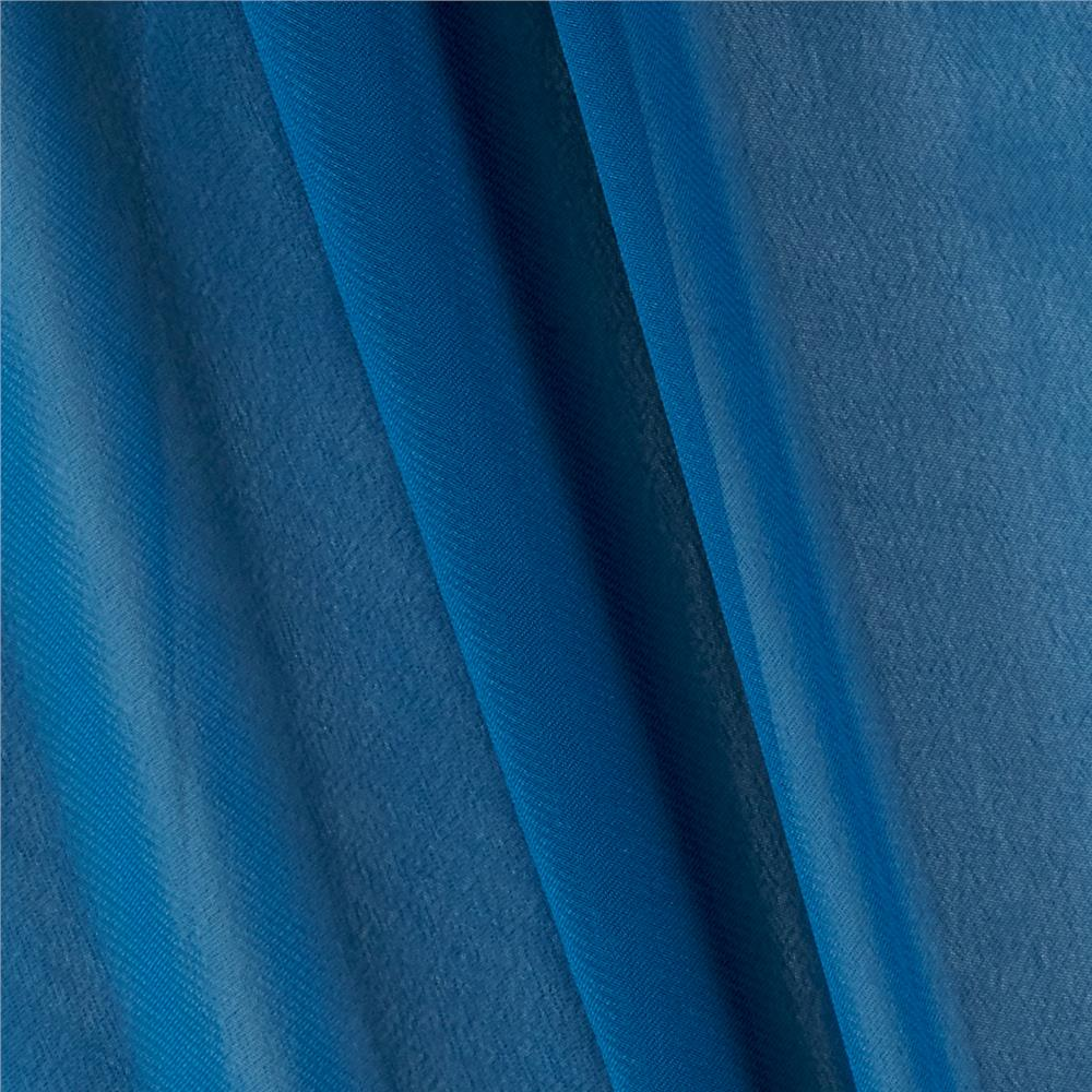 Chiffon solid deep teal discount designer fabric for Cheap fabric