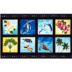 Tropical Breeze Picture Patches Panel Black