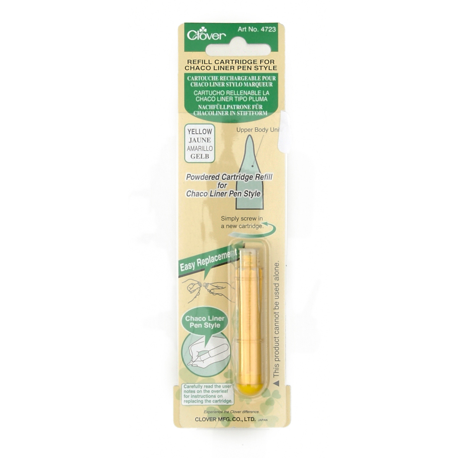 Clover Chaco Liner Refill Yellow by Clover Needlecraft in USA