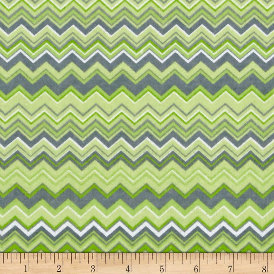 Chevron Flannel Green/Grey