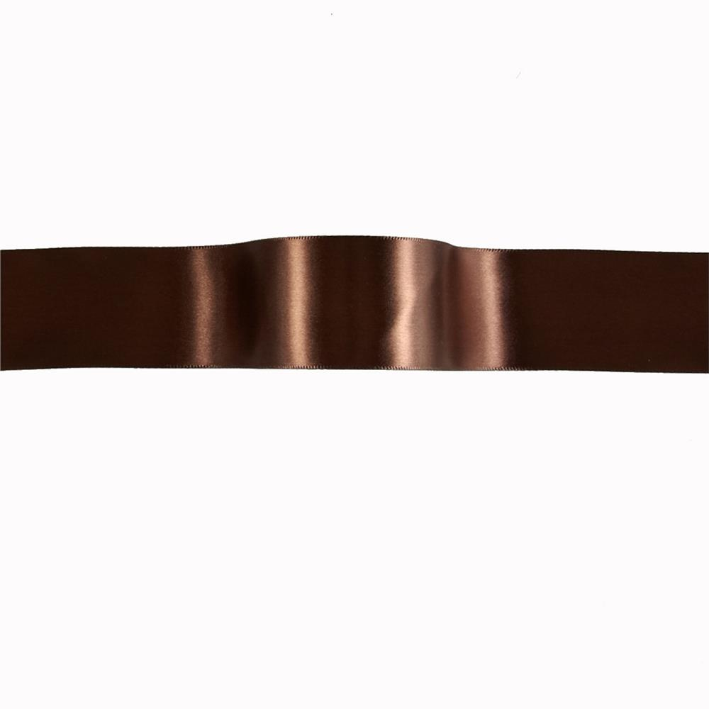 "1 1/2"" Offray Single Face Satin Ribbon Brown"