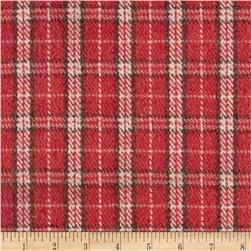 Melton Wool Plaid Pink/Brown